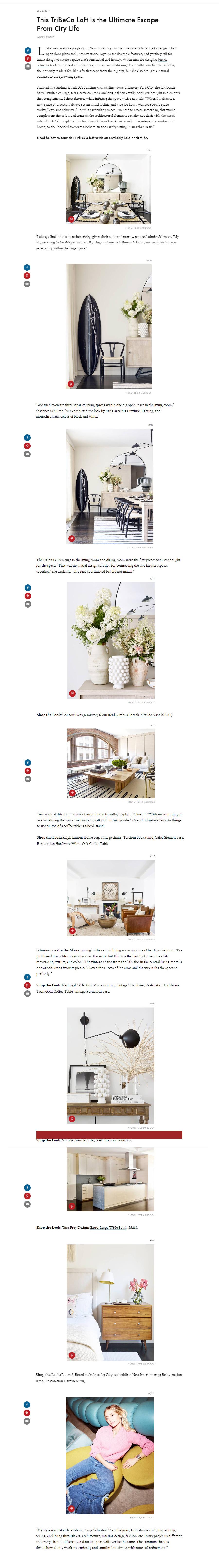 Homepage Jessica Schuster Design