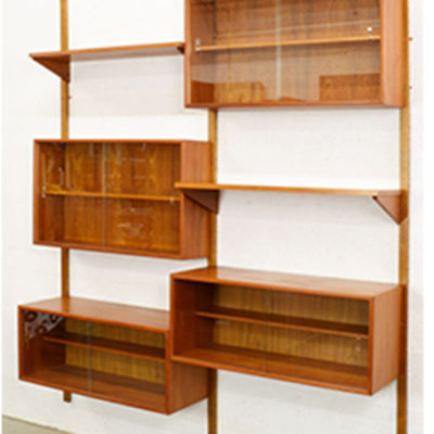Case Goods Mid Century Teak Shelving Unit